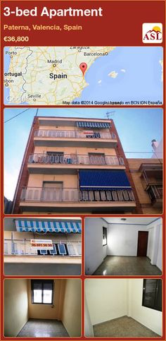 3-bed Apartment in Paterna, Valencia, Spain ►€36,800 #PropertyForSaleInSpain
