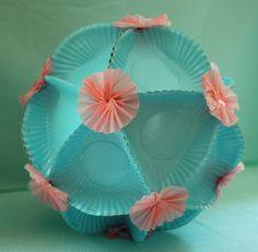 DIY Polyhedron with Fan Ruffle Embellishments