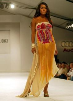 Trinidad Fashion Designers | Heather Jones design is modeled during the pret-a-porter showcase at ...