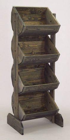 Wooden Barrel Rack Vegetable Bin, Wood Produce Stand for Kitchen Produce Stand, Produce Displays, Produce Storage, Fruit Storage, Vegetable Bin, Diy Vegetable Storage, Pallet Furniture, Home Projects, Wood Crafts