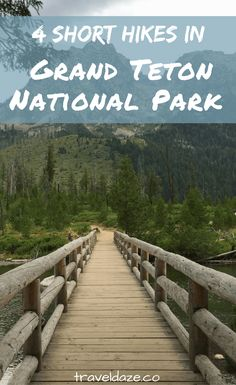 If you don't have time for a full day hike, there are plenty of short hikes in Grand Teton National Park that will get you outside