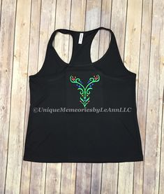 Frozen inspired Anna embroidered racerback Tank top 100% Polyester Dry wicking/Anti-microbial runners shirt great for a Disney Princess race by UniqueMemoriesLeAnn on Etsy