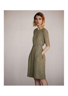 / constance print crepe dress