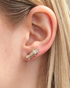Hand Carved Stud Earrings. Sold as a pair.Made by hand in New York using recycled gold