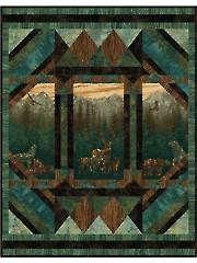 Aspen... Nature Quilt Kit idea for moose quilt panel