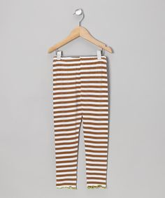 Take a look at this Saddle Stripe Leggings - Toddler & Girls on zulily today!