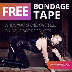 FREE #bondageTape with all #Bondage items over £25.