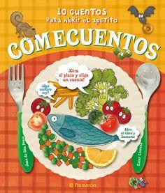 Cuentos en los que los alimentos son los protagonistas. Guisantes, patatas, huevos... humanizados nos hablan y comparten sus sentimientos con el lector cuando un niño los rechaza. En la cubierta, aparece una ruleta para poder elegir el cuento al azar, una forma interactiva de comenzar la lectura. Cuentos que ayudan a comer.