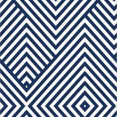 Papel de Parede Adesivo Geométrico Azul e Branco 007