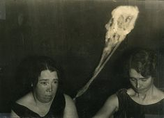 Photographs from the turn of the century documenting ectoplasm