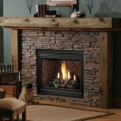Kingsman HB3624 Zero-Clearance Direct Vent Fireplace | WoodlandDirect.com: Indoor Fireplaces: Gas With Red Herringbone