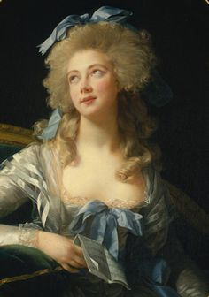 hairstyles of the 18th century | ... de Bénévent) models the bouffant du jour in the late 18th century