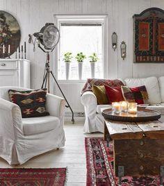 VM designblogg: Μποέμ Κατοικία στη Σουηδία