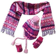 N'Ice Caps Little Girls And Infants Sherpa Lined Snowflake Knitted Set (6-18 months, pink/purple/fuchsia/lt purple print)  https://in.kato.im/c0bf160acb6ac80a1c9b7ecda93d41949ee8024c8811fb678d905a53f46adbd/B00NDM6CCM.html