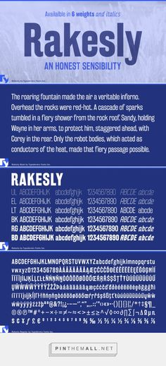 Rakesly Desktop, App and Web Fonts by Typodermic Fonts Inc.... - a grouped images picture - Pin Them All