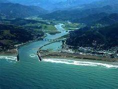 Pacific Ocean Rogue River Airport And Gold Beach Oregon Southern Coast