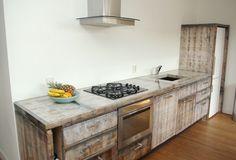 De eerste keuken gemaakt van steenschotten. www.schotenscheef.nl