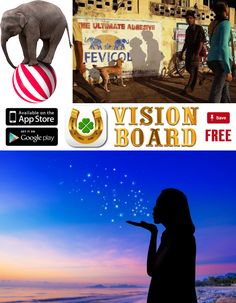 Get this FREE application on your iOS and Android device and enjoy how to create a digital vision board, goal board ideas for work and mastervision boards, the secret trailer and youtube subliminal law of attraction.