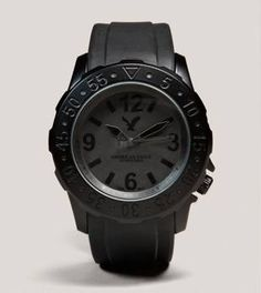 AE American Eagle Outfitters Men's Black Rubber Analog Watch - bought this one and a grey one for our 2 older sons...I swipe the chunky grey one to wear on occasion.