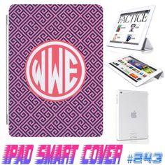 USA Custom Ipad Smart Cover Vintage Lattice by GeicoDesign on Etsy, $24.99 #ipad #ipadcase #case #cover #custom #monogram