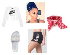 """Untitled #2"" by keesha-williams ❤ liked on Polyvore featuring adidas, Puma and NIKE"