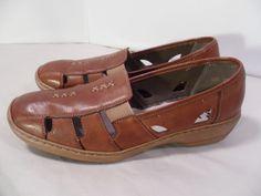 Women's Rieker Antistress Walking Shoes Comfort Flats Brown Leather-10.5 US 42   #Rieker #Slipons