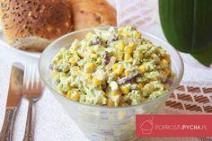 Brokułowa sałatka wsosie czosnkowym Appetizer Salads, Appetizers, Fried Rice, Potato Salad, Fries, Potatoes, Yummy Food, Vegetables, Healthy
