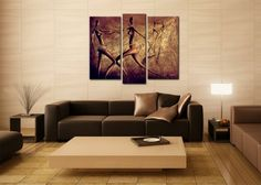 Hardwood Decorate The Living Room Mural African Motifs In Three Parts