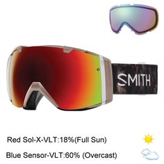 The Smith I/O Women's is a great goggle for any lady looking for easy to swap lenses. The Spherical Carbonic-X Lens wit..