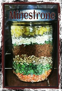 gifts in a jar Minestrone Soup.