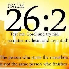 Some day - the full marathon. I will need all the prayers I can get! Psalm 26:2
