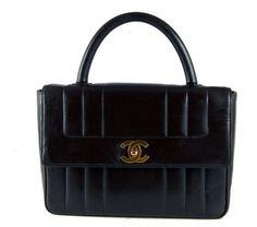 Chanel Black Lambskin Kelly Flap Bag