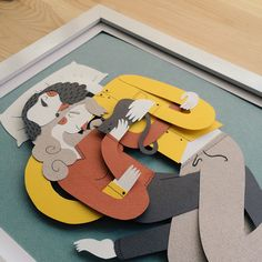 Spanish illustrator Juan Carlos aka Jotaka created this fantastic series of paper family portraits by rendering his bendy illustrated characters in cut paper. Art And Illustration, Portrait Illustration, Illustrations And Posters, Creative Illustration, Portraits Illustrés, Family Portraits, Arte Pop Up, Art Origami, Colossal Art