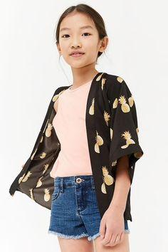 Girls Pineapple Print Kimono (Kids)