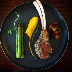Lemongrass herb, Dijon crusted rack of lamb by @gayleq - #rollwithus #chefsroll