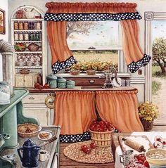 ART ~Janet Kruskamp:  Apple Pie Making