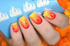 Nails literally on fire / scaled gradient  by simplynailogical