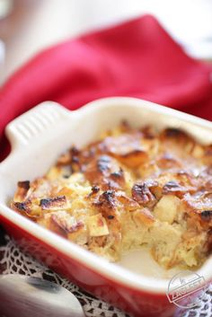 The perfect breakfast or dessert can be found in this apple and pecan studded Croissant Breakfast Bread Pudding For One. Easy to make and bakes quickly for a delicious single serving treat to enjoy any time of the day. | ZagLeft