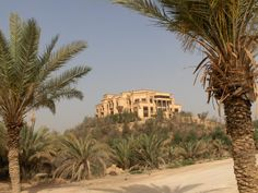 One of Saddam Hussein's Palaces atop a hill near BIAP, Baghdad, Iraq