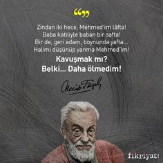The dungeon is two syllables, my Mehmed is worth mentioning! Father and father are in a rank! Also, ger . Syllable, Book Quotes, Motto, Father, Sayings, Nostalgia, Words, Nirvana, Thunder