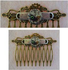 Gold Steampunk Dragon Eye Hair Comb Accessories Fashion Hair Pins Combs #handmade #HairComb http://www.ebay.com/itm/151648984549?ssPageName=STRK:MESELX:IT&_trksid=p3984.m1555.l2649