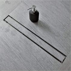 Linear shower drain that you can inset your shower tile into for a seamless look - love! Shower Floor Tile, Shower Niche, Walk In Shower, Linear Drain Shower, Shower Drain, Bathroom Plans, Master Bathroom, Bathroom Ideas, Bathroom Interior