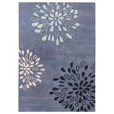 Handmade Metro Diamond Moon Light Blue Wool Rug (8' x 10')