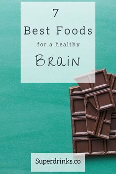 The Best Brain Foods. Wondering how to optimally feed your brain for a sharper mind today and lasting brain health tomorrow? Here's our guide on the top 7 brain foods to eat   3 best brain smoothies to make at home. #BrainHealth #BrainFoods #BrainSmoothies #HealthDrinks #BrainFoodTips #BrainFoodForStudying #BrainFoodMemory #Superfoods #BrainFoodMentalHealth #BrainFoodRecipes #MemorySmoothie #BrainFoodSmoothies #BrainSmoothieRecipe #Superdrinks Brain Food Memory, Good Brain Food, Brain Healthy Foods, Mango Smoothie Recipes, Raspberry Smoothie, Health Drinks Recipes, Healthy Drinks, Brain Food For Studying, Healthy Dark Chocolate