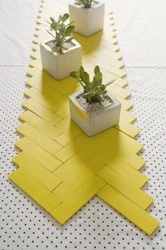 DIY: Paint stick table runner