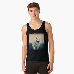 Mens Sleeveless Shirts, Samoyed Dogs, Summer Evening, Chiffon Tops, Tank Man, Tank Tops, Printed, Awesome, Products