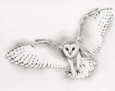 "ORIGINAL Pencil Flying Barn Owl Drawing, Owl art, Barn Owl Sketch - Pencil and Charcoal - 11""x14"" by JaclynsStudio on Etsy https://www.etsy.com/listing/194754615/original-pencil-flying-barn-owl-drawing"