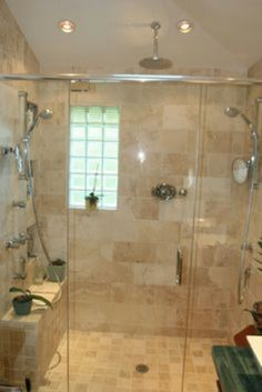 Glass Block Bathroom Ideas glass block window in shower   bathroom ideas   pinterest   glass
