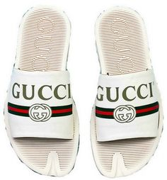 buy online b0acd 9e029 Gucci Leather slide Bow White