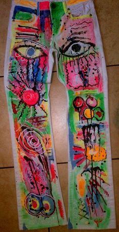 Neon Grafitti Jeans Clearance Sale on by FearlessClothingDes, $60.00